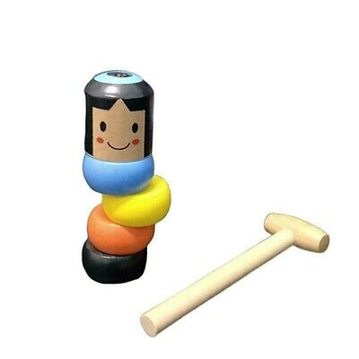 Immortal Daruma Unbreakable Doll Wooden Toy Magic Japan Asia Puppet Hammer comprar usado  Enviando para Brazil