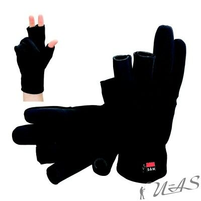 DAM Neoprenhandschuhe Neopren Handschuhe & Flies-Rücken Gr.S 8724-001 Kva