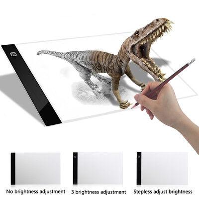 A4 LED Artist Tattoo Stencil Board Light Box Tracing Drawing Board Pad Table USB