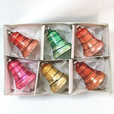 Box Austrian Glass Clapper Bells Christmas Ornaments