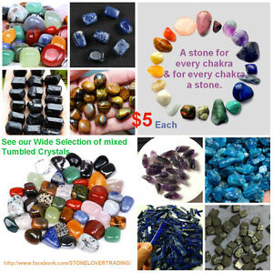 Tumbled Stone Crystal Gemstones -Various Types Available - $5 ea