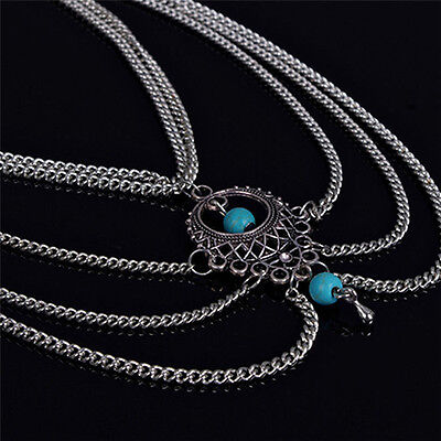 Boho Turquoise Barefoot Sandal Beach Anklet Foot Chain Jewelry Ankle Bracelet Anklets