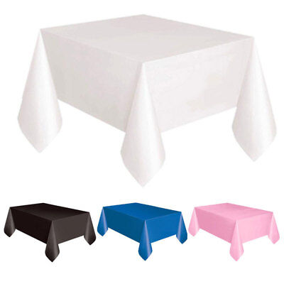 Square plastic Tablecloth Table Cover For Banquet Wedding Party Home Dec - Square Plastic Tablecloths