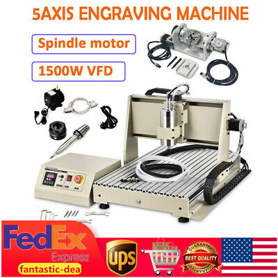 6040 5axis 1.5kw Router Engraving Carving Metal Milling Drilling Machine Usb Usa