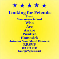 Wish to meet other people from Vancouver Island