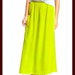 Women's Old Navy neon green maxi skirt Size Small New with tags London Ontario image 1