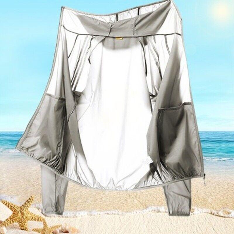 Herren Damen Ultra dünn atmungsaktiv Sonnenschutzkleidung UV-Schutzkleidung