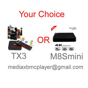 TX3 or M8S II Quad Core Android TV Media Box ( Your Choice )