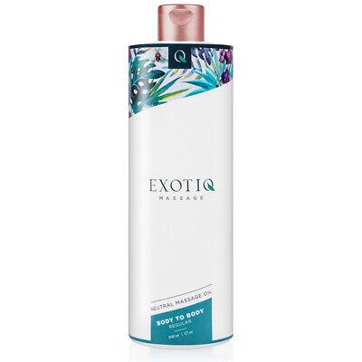 Exotiq - Body to Body Massageöl für erotisch sinnliche Massagen in 500ml Größe