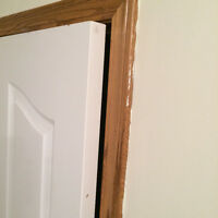 Door repair, Door damage holes restoration, door splitting, crac