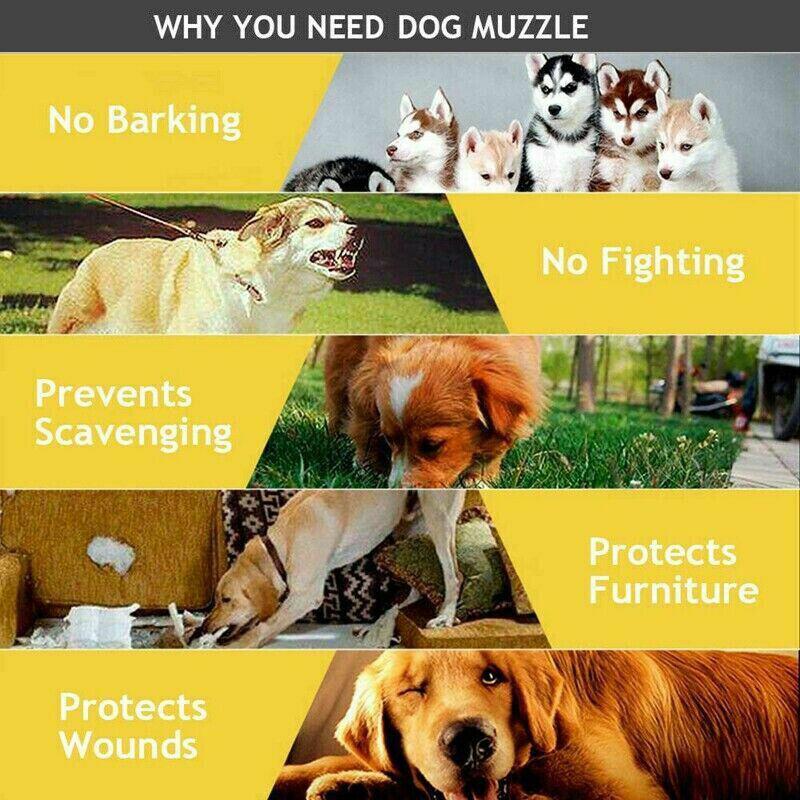 Adjustable Pet Dog Puppy Anti-Biting/ Barking/ Chewing Safety Black Muzzel Mask Dog Supplies