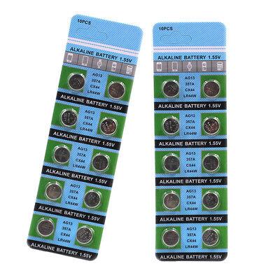 10PCS PILE AG13 LR44 L1154 1.55V Button Coin Cell Alkaline Batteries Useful