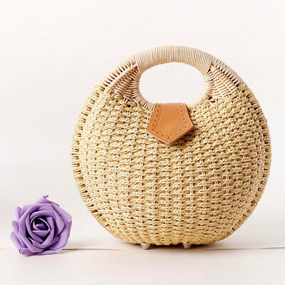 Tasche Rattan Handgewebte Handtasche Shell Gestrickte Tote (Strand Tasche Tote)