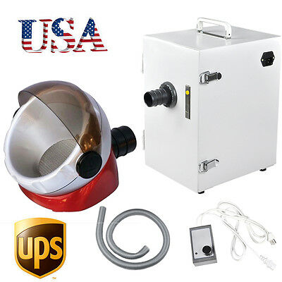 Usa Dental Lab Denshine Single-row Dust Collector Vacuum Cleaner 370w Free Gift
