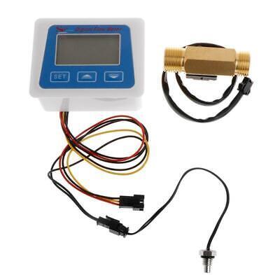Digital Flow Meter Water Flowmeter Temperature Time Record With G12 Flow Sensor
