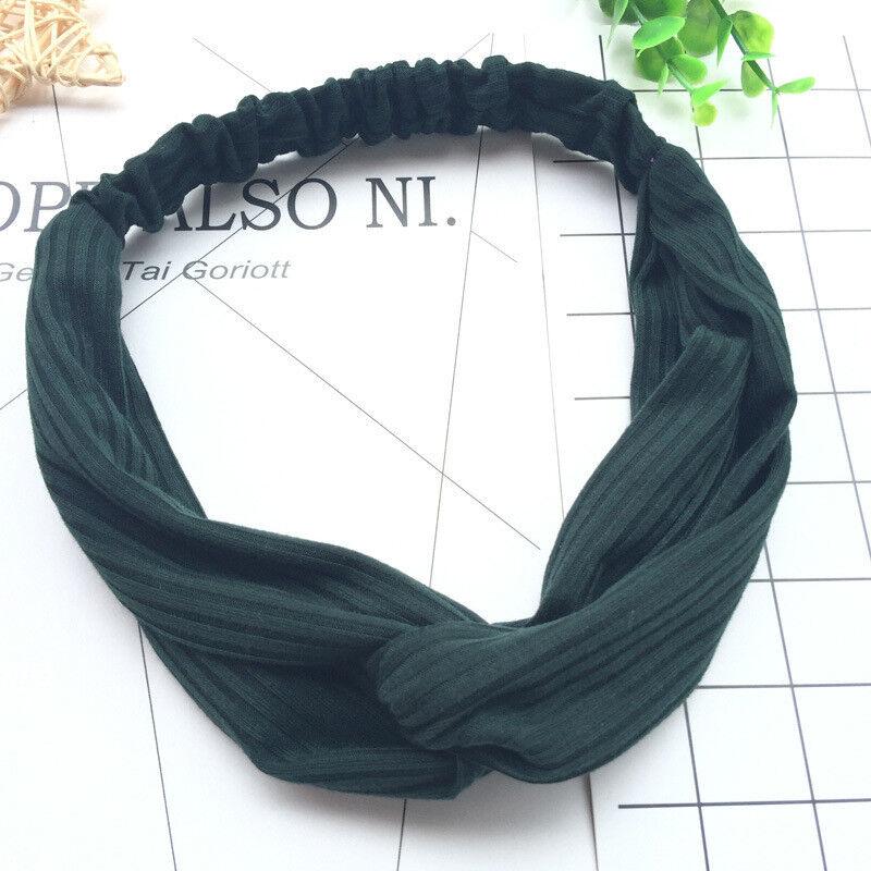 Summer Womens Headband Cute Bowknot Hair Bands Wrap Fabric Headwrap Accessories