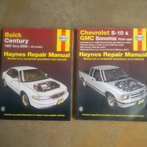 Haynes manuals, Buick Century and Chev S10/Blazer