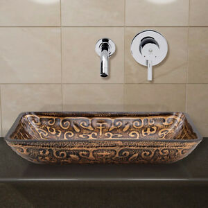 Vasque, robinet mural et pop-up drain -NEUF--- VALEUR 380$