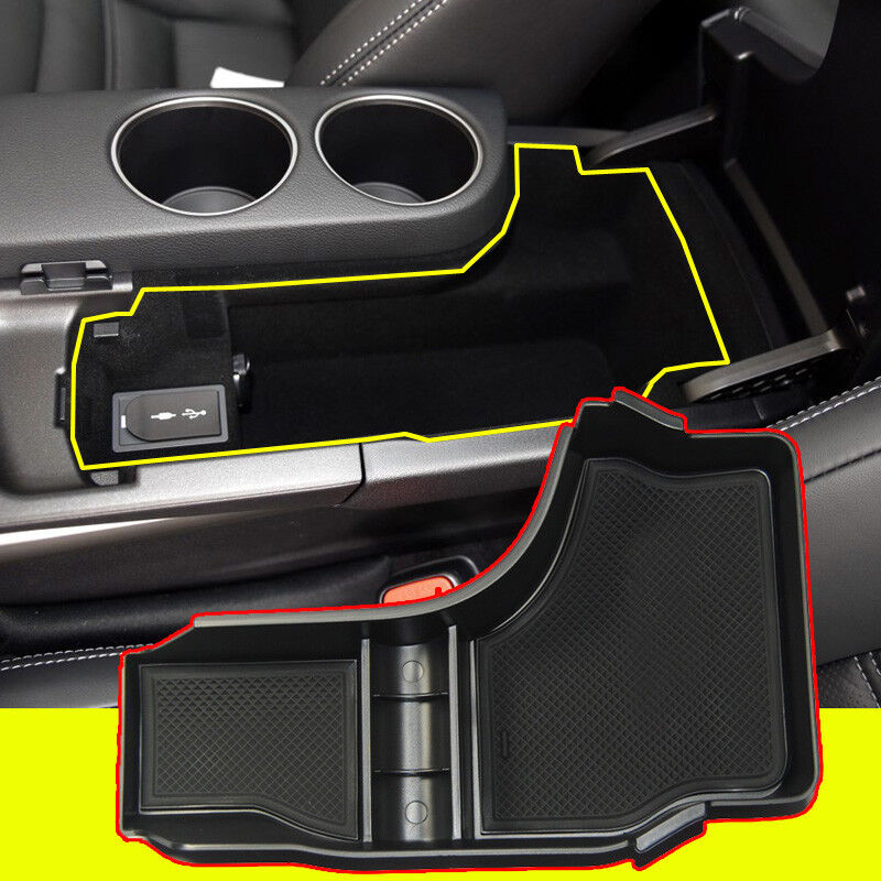 1X Black Car Console Armrest Container Storage Box For Lexus IS200t IS350 14-16