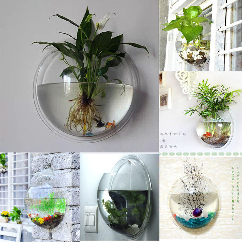 indoor outdoor garden wall mounted plastic plant pot