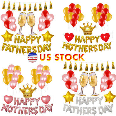 Father's Day/Mother's Day Tassels Foil Balloons Kit Party Decoration Hoop Set - Mother's Day Party