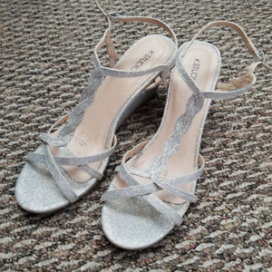 Silver Prom Heels - Size 10