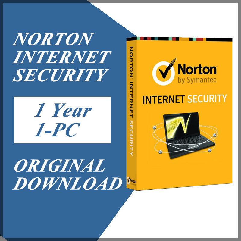 Symantec Norton Internet Security 2020 Antivirus Windows Version 1 Year / 1 PC