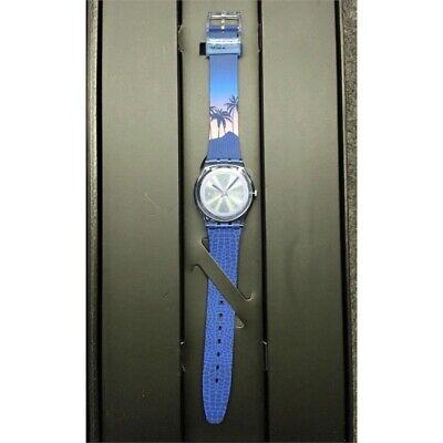 Swatch GZ328 James Bond License to Kill 1989 Analog Watch Blue 34 mm