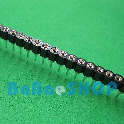 5pcs 40 Pin 2.54 Mm Single Row Round Hole Female Pin Header Pcb New