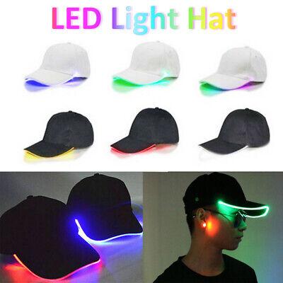 LED Light Up Baseball Cap Hat Illuminated Apparel Women Men Unisex Party Caps ()
