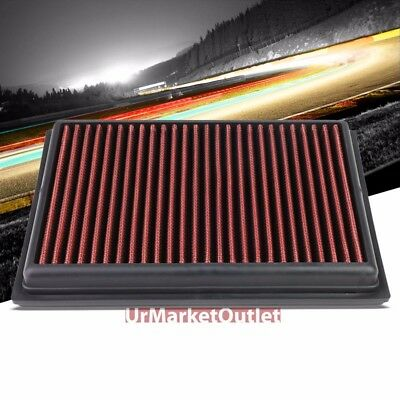 Red Performance WashableReuse Airbox Drop In Panel Air Filter For 08 13 Rogue