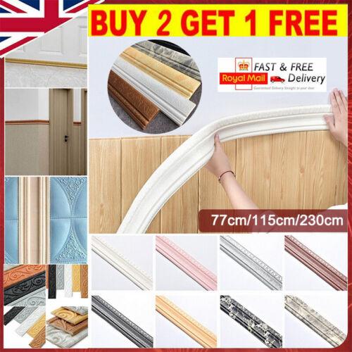 Home Decoration - 3D Wall Self-Adhesive Sticker Waterproof Skirting Wallpaper Border Home Decor &