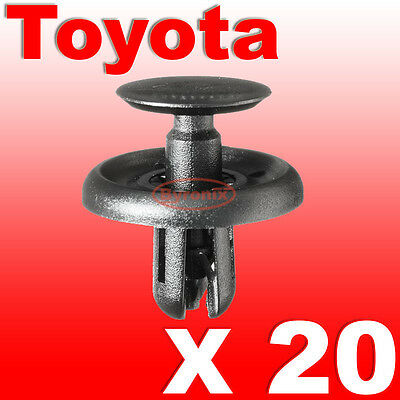 Plastic Trim Clips Toyota Wheel Arch Inner Wing Lining Lower Engine Shield Cover