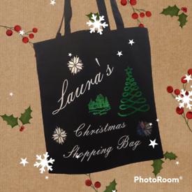 Christmas tote bags!