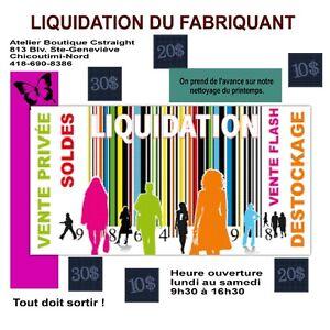 liquidation du fabricant