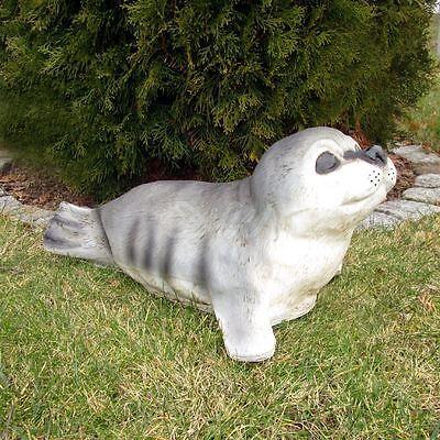 SEEHUND BABY HEULER ROBBE 48 cm Deko Figur Garten Tier Skulptur lebensgroß Teich