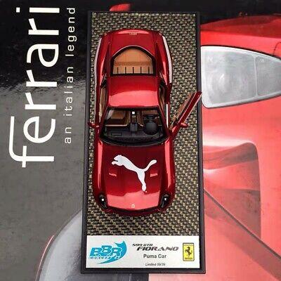BBR 1/43 Ferrari 599 599GTB Fiorano Puma 2010 car model Monza Red BBRC47B LE39