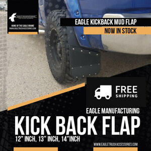 Eagle Kick Back Powder Coated Aluminum Mud Flaps - FREE SHIPPING