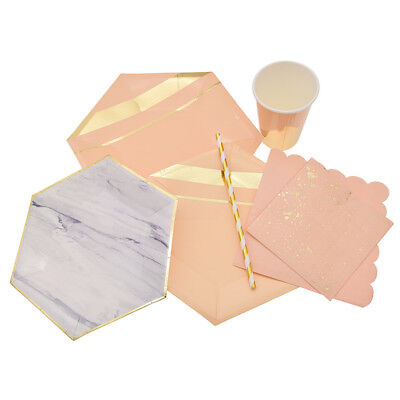 Gilding Paper Tableware Napkin Cup Plate Straw Wedding Birthday Christmas - Paper Christmas Tableware
