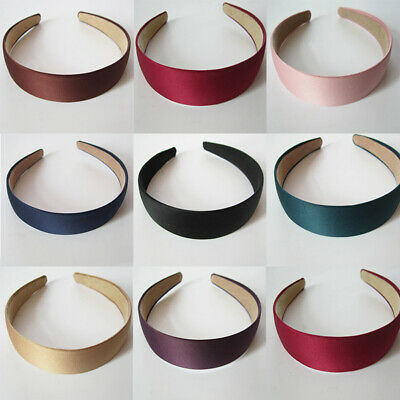 Wide Hairband Hair Hoop Solid Color Headband 3cm Hair Accessories DIY Plastic