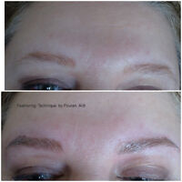 3D Cosmetic Tattoo Eyebrows___ Before and After Pictures