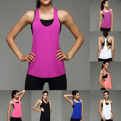 Women Sports Exercise Running Vest Fitness Jogging Yoga Cloth Singlet Tank Tops