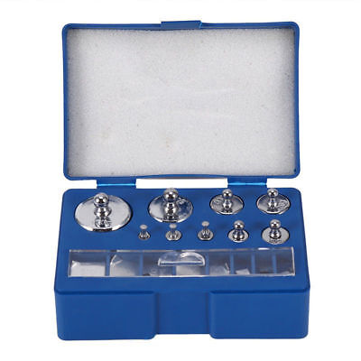 17pcs 10mg-100g Grams Precision Calibration Scale Weight Set Test Jewelry Scale