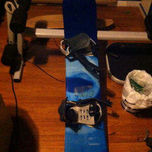 Solomon snowboard and boots
