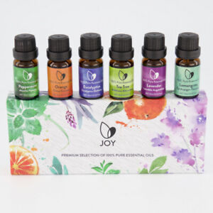 PREMIUM SELECTION OF  100% PURE ESSENTIAL OILS - SET OF 6x10ML