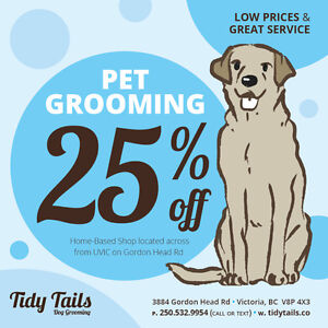 25% OFF DOG GROOMING