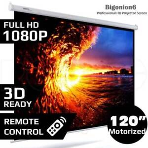 120 inch Electric Motorised Projector Screen Mount Home Theatre Doveton Casey Area Preview