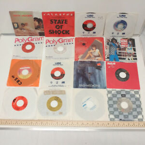 Lot of 16 45's Vinyl Records - Online Auction
