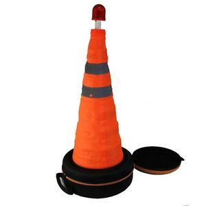 Kingslite Folding Collapsible Emergency Traffic Warning Cone with LED Light