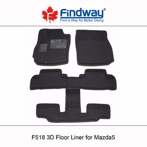 All weather 3D Car Floor Mats/Liners for 2007-2010 Mazda5